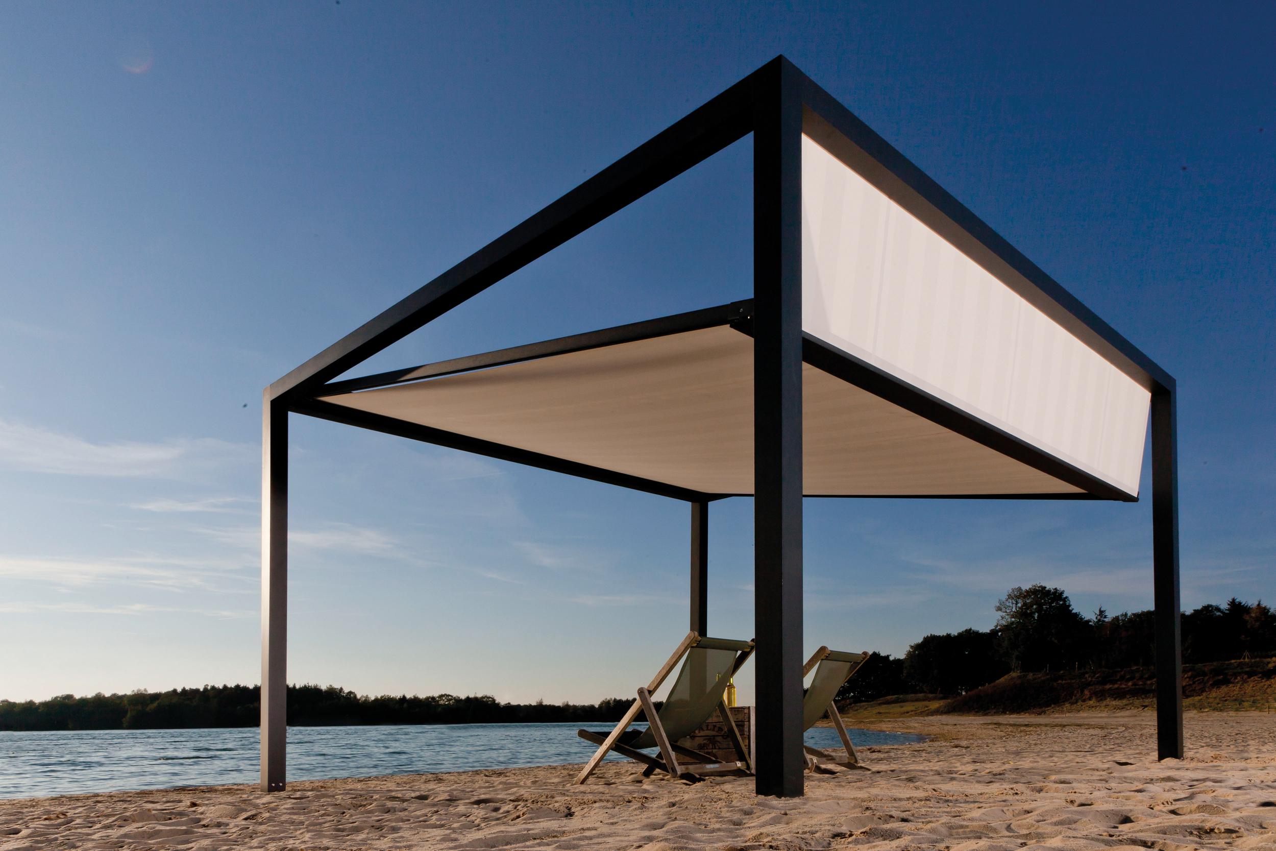 die freistehende markise mit design anspruch. Black Bedroom Furniture Sets. Home Design Ideas